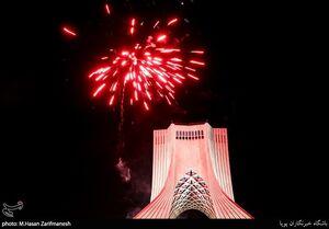 عکس/ نورافشانی شب عید غدیر در تهران