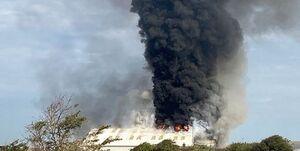 وقوع یک آتش سوزی گسترده در «ساسکس» انگلیس