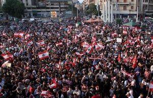 تظاهرات مردم لبنان در مقابل پارلمان