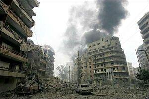 اسراییل جنوب لبنان را گستردهتر از بیروت تخریب کرد+ عکس