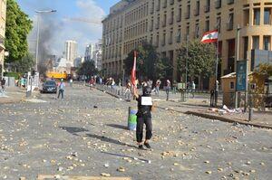 احتمال سوختن اسناد انفجار بیروت در آتش اعتراضات