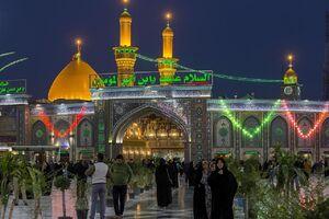 فیلم/ افتتاح ایوان طلای حرم حضرت عباس(ع)