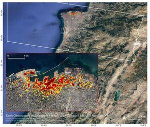 برآورد خسارات انفجار بیروت توسط ناسا +عکس