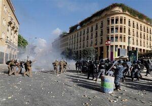 ادامه درگیری در ورودی میدان پارلمان لبنان