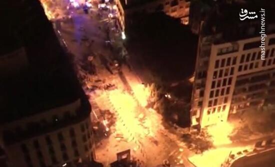 تصاویر هوایی از ناآرامیها در بیروت