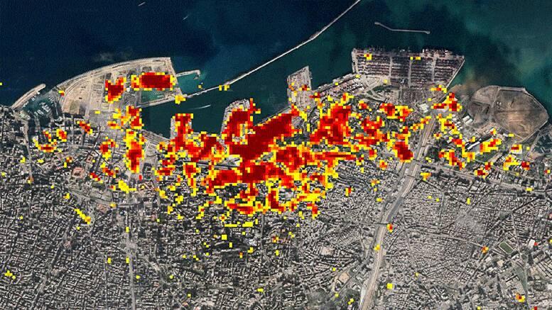 2877549 - برآورد خسارات انفجار بیروت توسط ناسا +عکس