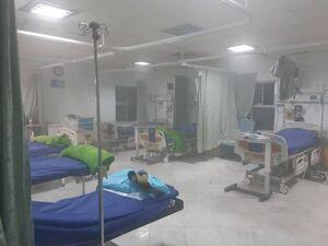 آتش سوزی در بیمارستان خیابان سخایی تهران +عکس
