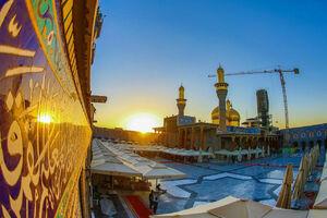 عکس/ طلوع زیبای خورشید در کاظمین