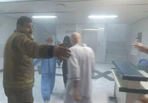 عکس/ آتش سوزی در بیمارستان نفت تهران