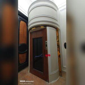 تصویر دیده نشده از آسانسور تعبیه شده در کاخ مرمر