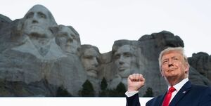 درخواست عجیب ترامپ برای حکاکی چهرهاش بر روی کوه