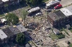 تخریب سه منزل مسکونی در اثر انفجار در آمریکا