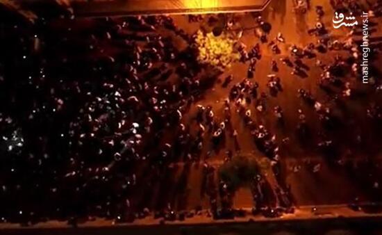 تصاویر هوایی حجم واقعی اعتراضات در بیروت را نشان داد