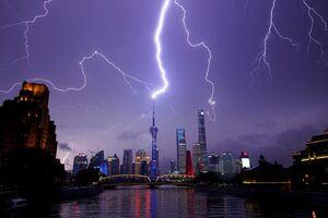 عکس/ رعد و برق دیدنی در آسمان چین