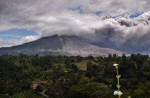 عکس/ فعال شدن آتشفشان در اندونزی