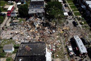 عکس/ انفجار مرگبار منزل مسکونی در آمریکا