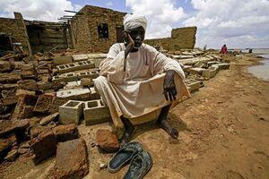 عکس/ تخریب ۴هزار خانه در سیل سودان