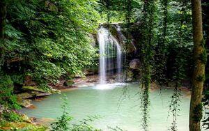 طغیان آبشار ماسوله در پاییز هزار رنگ گیلان +عکس
