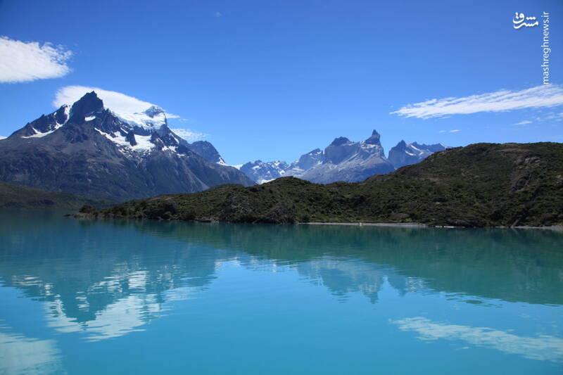 دریاچه پئوئه در پارک ملی تورس دل پاینه در شیلی