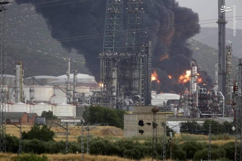 فیلم/ انفجار در تاسیسات ذخیره نفت اسپانیا
