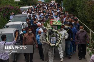 عکس/ تشییع پیکر شهید مدافع سلامت در گرگان
