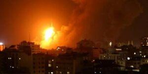 حملات گسترده جنگندههای صهیونیستی به نوار غزه +عکس