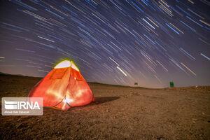 عکس/ آسمان در شب بارش شهابی