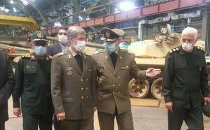 افتتاح خط بهینهسازی و ارتقاء تانک در وزارت دفاع