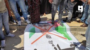 عکس/ واکنش فلسطینیان به خیانت بنزائد