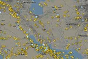 افزایش ۳۶ درصدی پروازهای عبوری از آسمان ایران