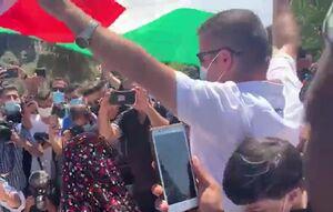 تظاهرات جوانان فلسطینی در مسجدالاقصی