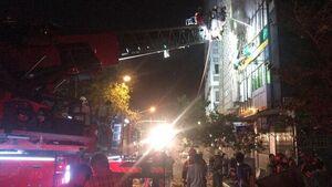 حریق وانفجار درساختمانی در خیابان فخر رازی +عکس
