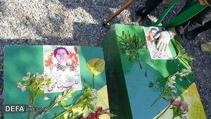 خاکسپاری پیکرهای مطهر دو شهید لشکر فاطمیون در مشهد+ تصاویر
