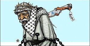 خنجر مسموم امارات در پشت امت فلسطین +کاریکاتور