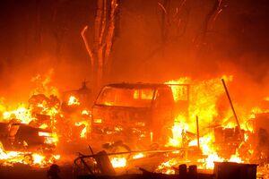 تصاویر جدید از آتش سوزی مهیب در لسآنجلس