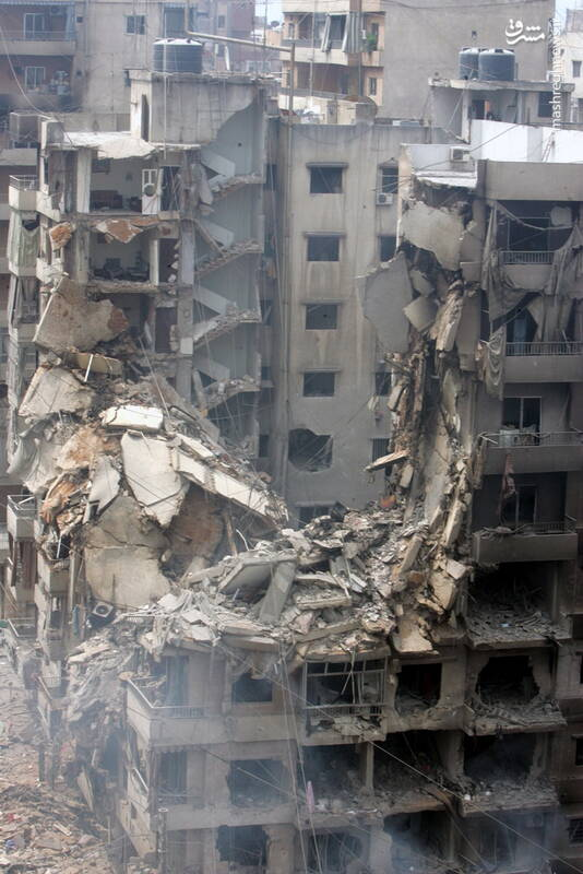 خرابیهای ناشی از حمله اسرائیل به لبنان