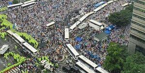 عکس/ تجمع بزرگ ضد دولتی در کره جنوبی