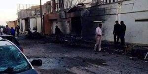 سفارت امارات در طرابلس به آتش کشیده شد +عکس