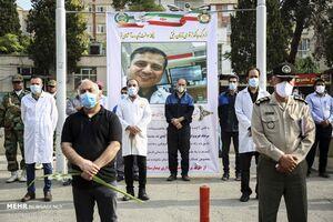عکس/ تشییع پیکر شهید مدافع سلامت سرهنگ پزشک اصغر عیسی آبادی