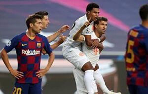 آمارهای عجیب برای بازی بارسلونا و بایرنمونیخ