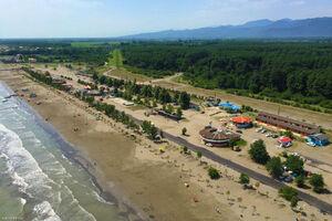 تصویر هوایی زیبا از ساحل گیسوم تالش