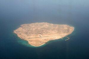 کوهی در دل خلیج فارس که مملو از مرغان دریایی است!  +فیلم