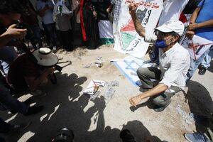فیلم/ تجمع مقابل سفارت امارات در مغرب