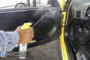 عکس/ تلاش رانندگان برای رعایت پروتکلهای بهداشتی