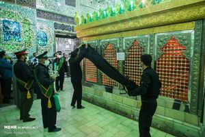 عکس/ سیاهپوشان آستان امامزاده حسین (ع) قزوین