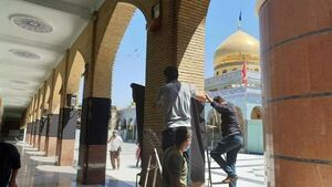 عکس/ رنگ عزای حسینی در حرم حضرت زینب (س)