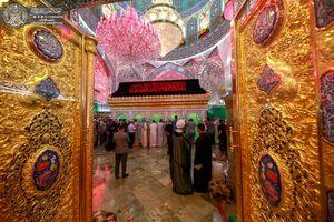 عکس/ حال و هوای محرم در حرم حضرت علی(ع)