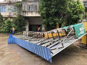 عکس/ خسارت سیل و طوفان در جنوب چین