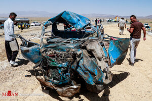 عکس/ تصادف مرگبار در محور سبزوار - اسفراین