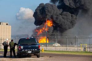 فیلم/ انفجار خط لوله گاز در تگزاس
